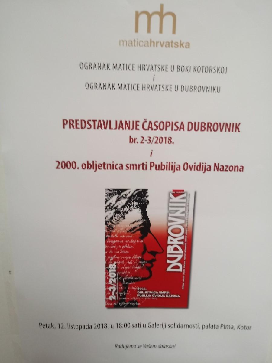 Suradnja ogranaka  Matice hrvatske u Dubrovniku i Boki kotorskoj (3)