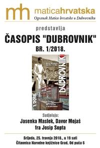 Predstavljanje časopisa Dubrovnik 1/2018.