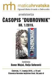Predstavljanje časopisa Dubrovnik 1/2019.