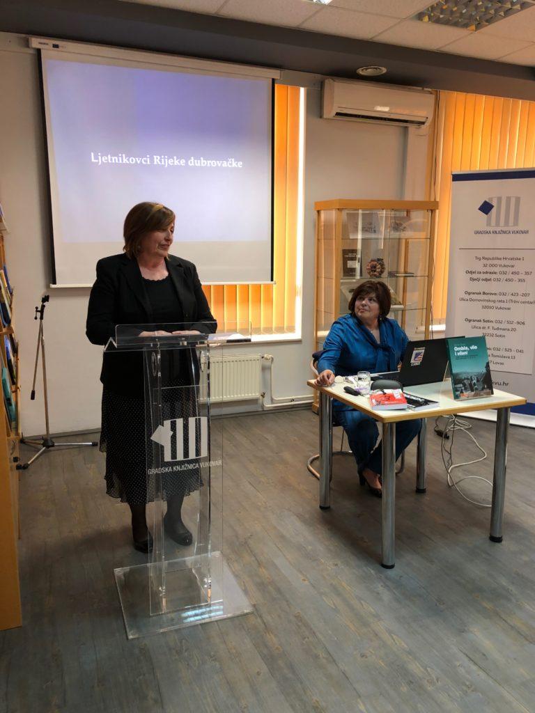 """Održano predavanje """"Ljetnikovci Rijeke dubrovačke"""" u Vukovaru"""