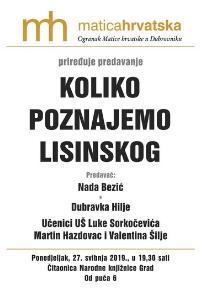 Predavanje o Vatroslavu Lisinskom