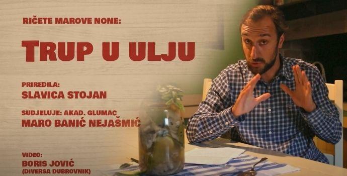 U kominu Matice hrvatske: RIČETE MAROVE NONE – trup u ulju