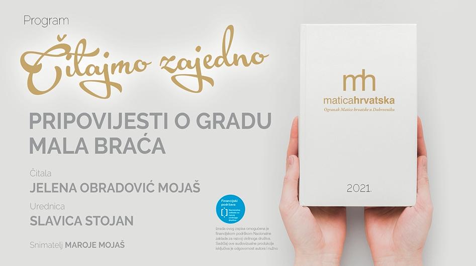 """Čitajmo zajedno (III.): """"Pripovijesti o Gradu"""", čita Jelena Obradović Mojaš"""