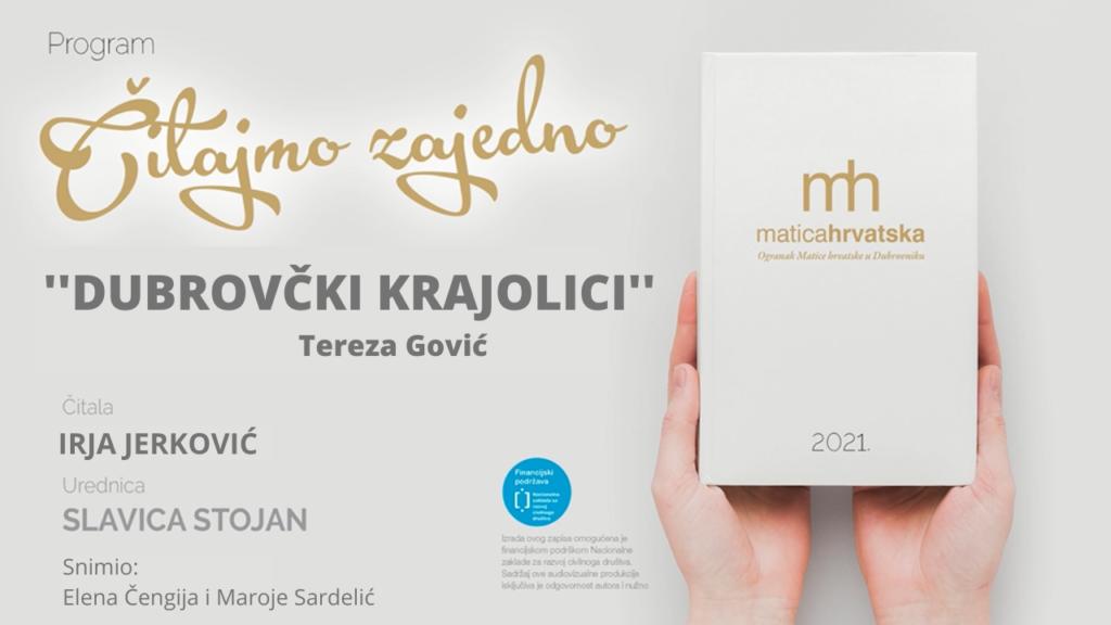 """Čitajmo zajedno (X.): """"Dubrovački krajolici"""" Tereza Gović, čita Irja Jerković"""